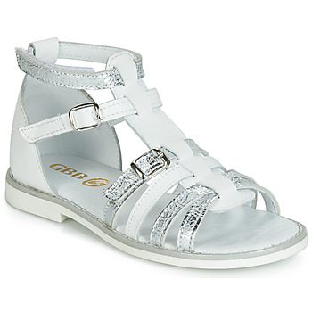 Shoes Girl Sandals GBB MONELA White / Silver