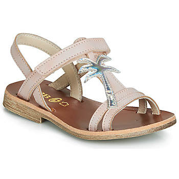 Shoes Girl Sandals GBB SAPELA Pink / Silver