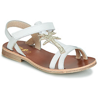 Shoes Girl Sandals GBB SAPELA White / Gold