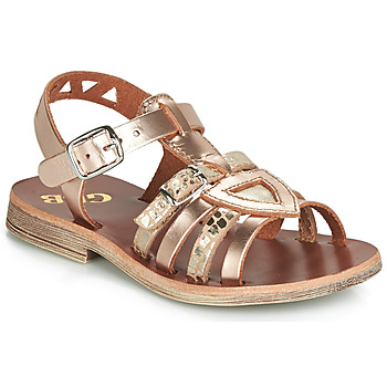 Shoes Girl Sandals GBB FANNI Pink / Gold / Gold