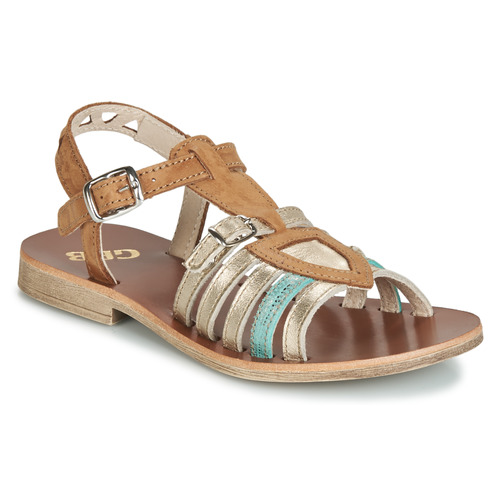 Shoes Girl Sandals GBB FANNI Brown / Gold
