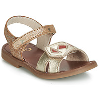 Shoes Girl Sandals GBB CAVOLA Gold / Red