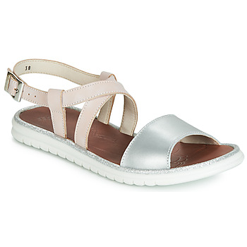 Shoes Girl Sandals GBB ADRIANA Pink / Silver