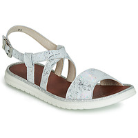 Shoes Girl Sandals GBB ADRIANA White / Silver