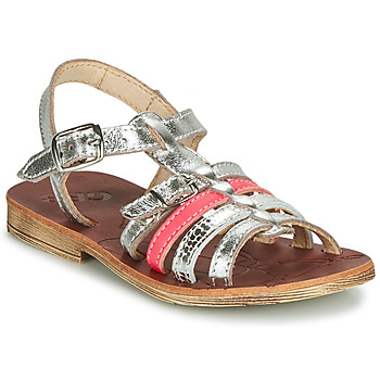 Shoes Girl Sandals GBB BANGKOK Silver / Pink