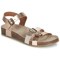 Shoes Girl Sandals GBB BIGA Pink / Gold / Gold