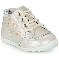 Shoes Girl Hi top trainers Catimini BALI Vte / Silver-beige