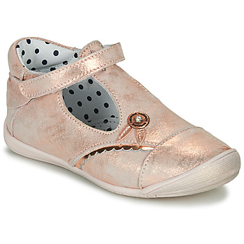 Shoes Girl Flat shoes Catimini SANTA Vte / Pink / Gold / Kezia