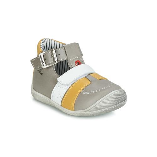 Shoes Boy Sandals Catimini TIMOR Grey / Mustard