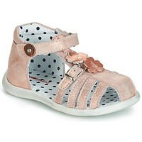 Shoes Girl Sandals Catimini VANUA Pink / Gold