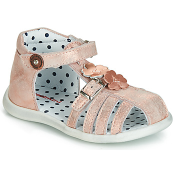 Shoes Girl Sandals Catimini VANUA Pink / Gold