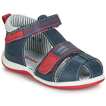 Shoes Boy Sandals Catimini BALIMO Marine / Red