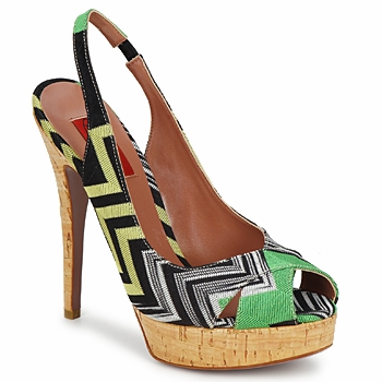 Shoes Women Sandals Missoni RM71 GREEN / Dopp / Black