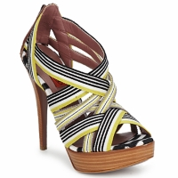 Shoes Women Sandals Missoni RM20 Yellow / White