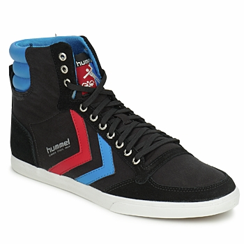 Shoes Hi top trainers Hummel TEN STAR HIGH CANVAS Black / Blue / Red