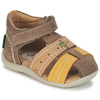 Shoes Boy Sandals Kickers BIGBAZAR Grey / BEIGE / Yellow