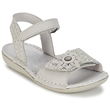 Shoes Girl Sandals Kickers EVANA White / Broken