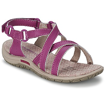 Shoes Girl Outdoor sandals Merrell JAZMIN KIDS Purple