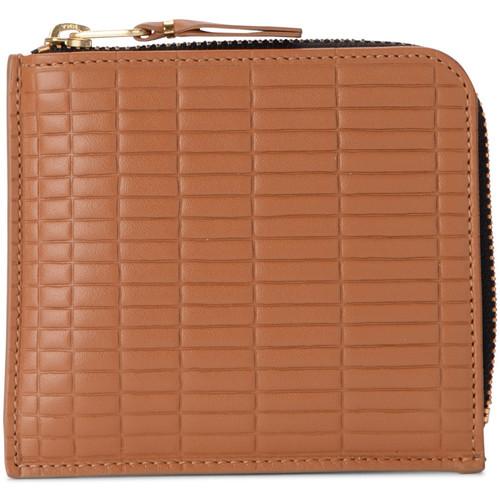 Bags Women Wallets Comme Des Garcons Comme Des Garçons Brick Line leather wallet Brown