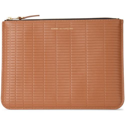 Bags Women Wallets Comme Des Garcons Brick Line leather purse Brown