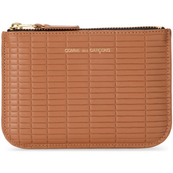 Bags Women Wallets Comme Des Garcons Brick Line leather purse Brown