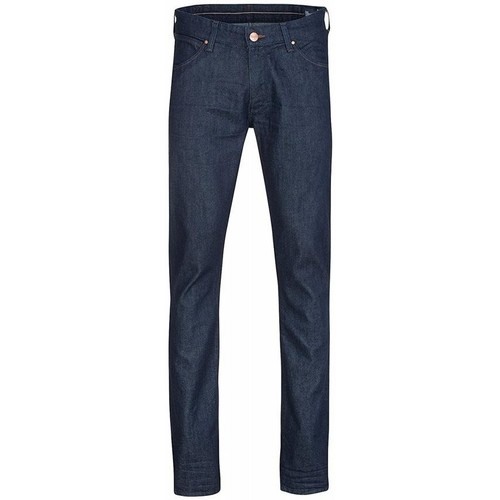 Clothing Men slim jeans Wrangler Larston W18S6274J granatowy