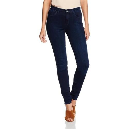 Clothing Women Skinny jeans Wrangler High Skinny W27HBV78Z navy