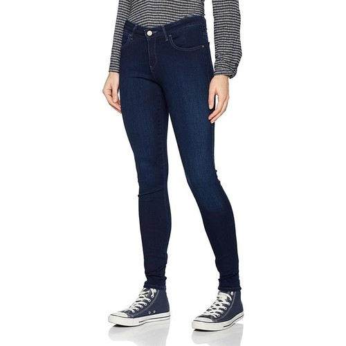 Clothing Women Skinny jeans Wrangler Super Skinny True Beauty W29JBV94Z navy