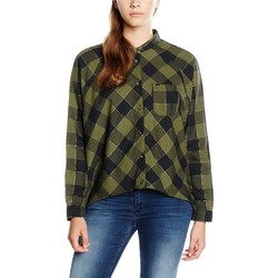 Clothing Women Shirts Wrangler L/S Clover Green W5176C8FR green, black