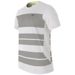 Clothing Men Short-sleeved t-shirts New Balance MT53406WSV white