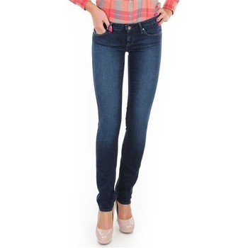 Clothing Women Skinny jeans Wrangler Spodnie  Molly Straight W26FX754R blue