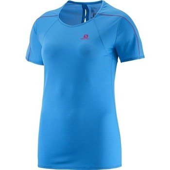 Clothing Women short-sleeved t-shirts Salomon Minim Evac Tee W 371146 blue
