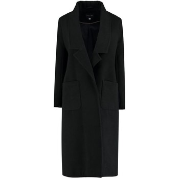 Clothing Women coats De La Creme Winter Long Coat Black