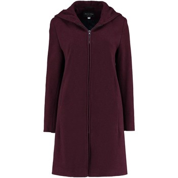 Clothing Women coats De La Creme - Womens Burgandy Cashmere Wool Hooded Winter Coat Red