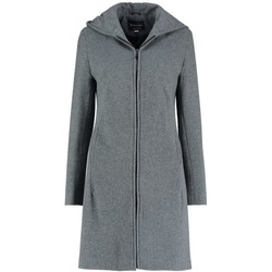 Clothing Women Coats De La Creme Cashmere Wool Hooded Winter Coat Grey
