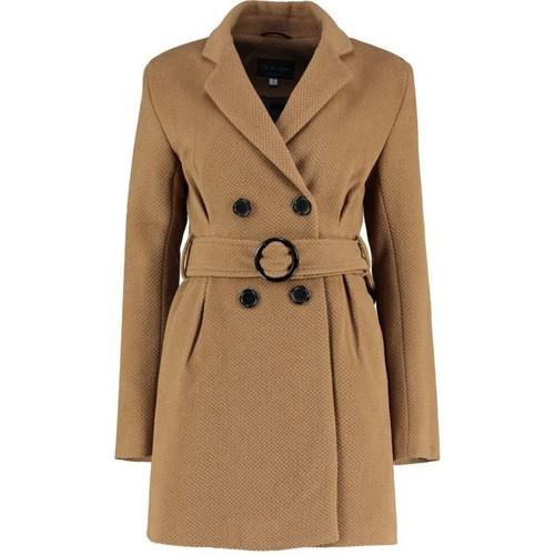 Clothing Women Coats De La Creme Tweed s Winter Belted Jacket BEIGE