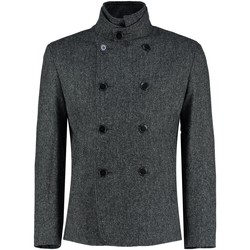 Clothing Men coats De La Creme Tweed Short Winter Wool Jacket Black