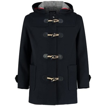 Clothing Women Coats De La Creme Winter Hooded Duffle Wool Coat Black