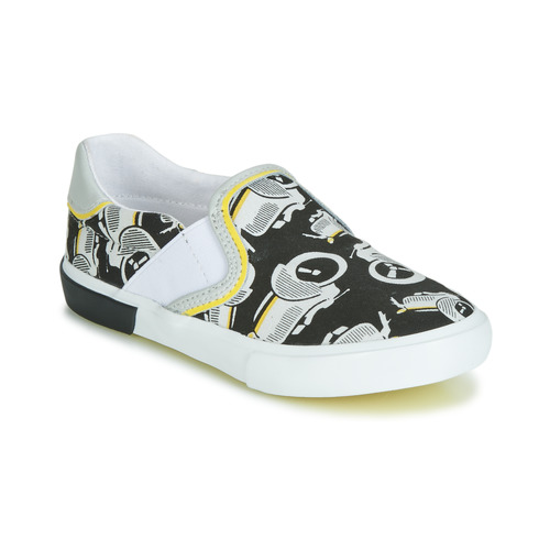 Shoes Boy Slip-ons Catimini CAMAZO White / Black
