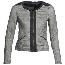 Clothing Women Jackets / Blazers One Step VALSE Grey / Marine