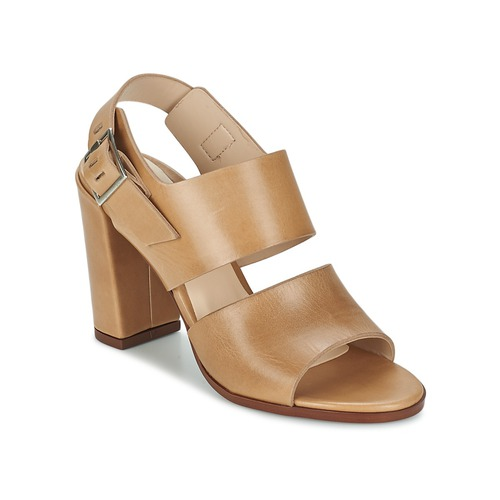 Shoes Women Sandals Dune London CUPPED BLOCK HEEL SANDAL Beige