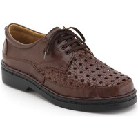 Shoes Men Derby Shoes Calzamedi comfortable shoes with Velcro sewn by hand BROWN