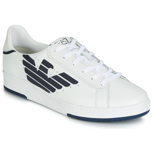 Shoes Low top trainers Emporio Armani EA7 MILLENIUM U White / Marine