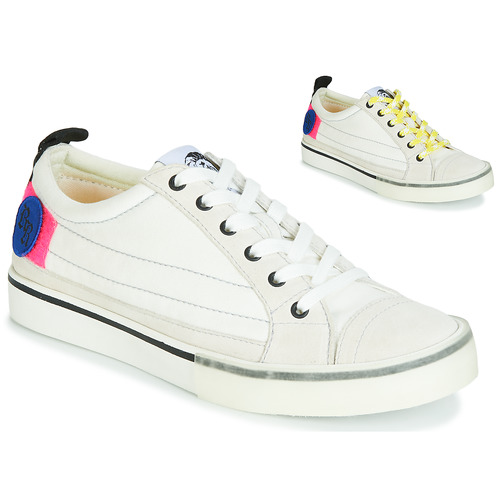 Shoes Women Low top trainers Diesel D-VELOWS LOW PATCH W White