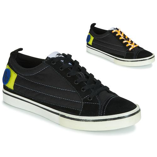 Shoes Men Low top trainers Diesel D-VELOWS LOW PATCH Black