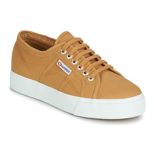 Shoes Women Low top trainers Superga 2730 COTU Beige