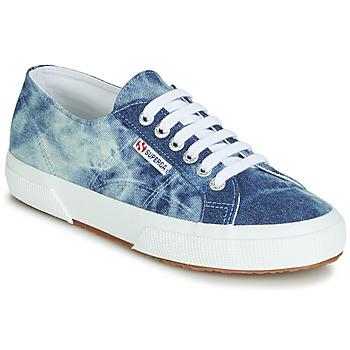 Shoes Low top trainers Superga 2750 TIE DYE DENIM Blue