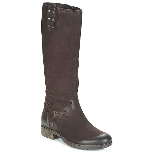 Shoes Women High boots Dream in Green CHAHINE Brown