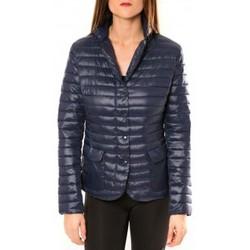 Clothing Women Jackets De Fil En Aiguille Doudoune Victoria & Karl 15326-C Bleu Blue