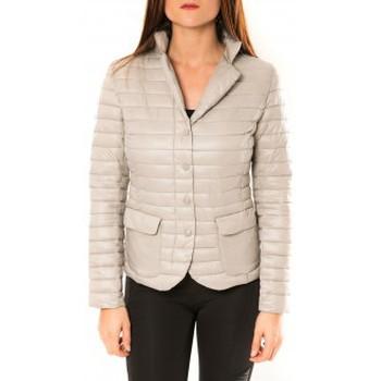 Clothing Women Jackets De Fil En Aiguille Doudoune Victoria & Karl 15326-C Beige Beige